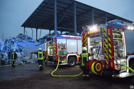 Kompost im c-Port erneut in Brand
